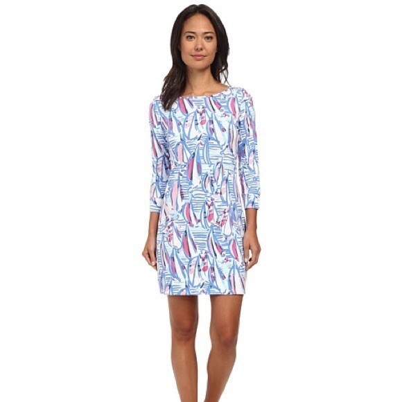 5c46a23dfe05b7 Lilly Pulitzer Dresses & Skirts - Lilly Pulitzer Sailboat Red Right Return  Marlowe S